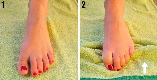 ejercicios para fortalecer pies toalla pieamarillo pies